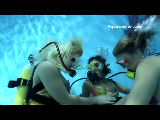 Three Gorgeous Bikini Scuba Girls