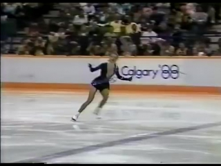 Simone Koch (GDR) - 1988 Calgary, Ladies Short Program