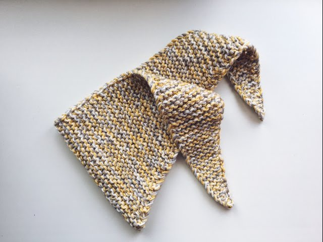 Шарф - платок спицами (Бактус). Baktus.