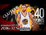 Stephen Curry Full Highlights 2017 WCF Game 1 vs Spurs - 40 Pts, 19 in 3rd Quarter, CLUTCH!