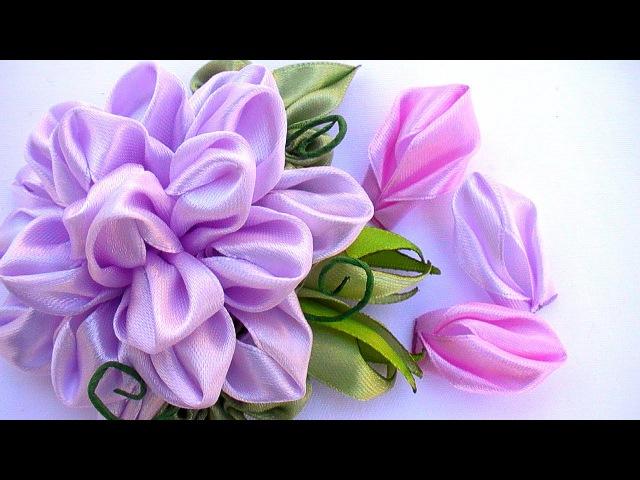 Лепестки Канзаши из Ленты 2 5 см / How to Make Petals Kanzashi / DIY New kanzashi petals flowers