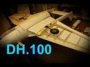 Радиоуправляемая модель. Модель самолета DH 100 Vampire. Постройка и пробный полет.
