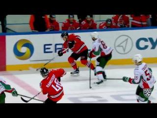 Лучшие силовые приёмы четвертой недели КХЛ 21.09