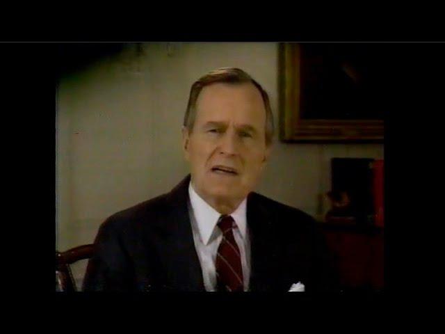 Новогодние обращения Президента США Дж. Буша-ст и Ген.секретаря ЦК КПСС М. Горбачёва. Поздравление с Новым 1990 годом. 31 декабр