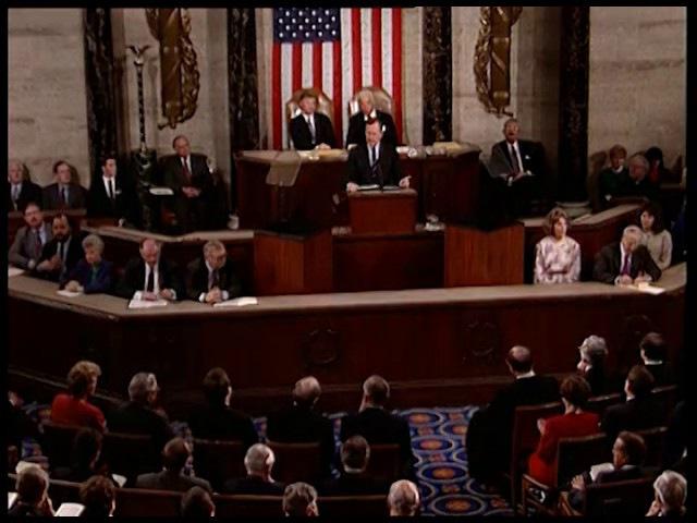 Доклад Президента США Джорджа Буша-старшего о положении дел в Союзе. 28 января 1992 года.