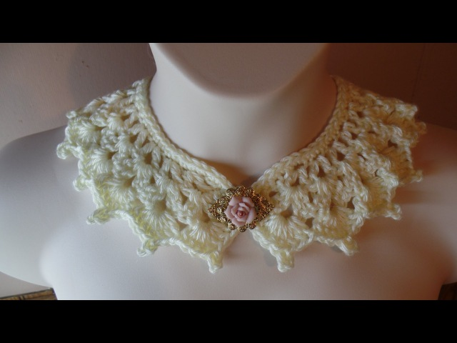 CROCHET How to Crochet Victorian Style Collar Necklace TUTORIAL 226 LEARN CROCHET DYI
