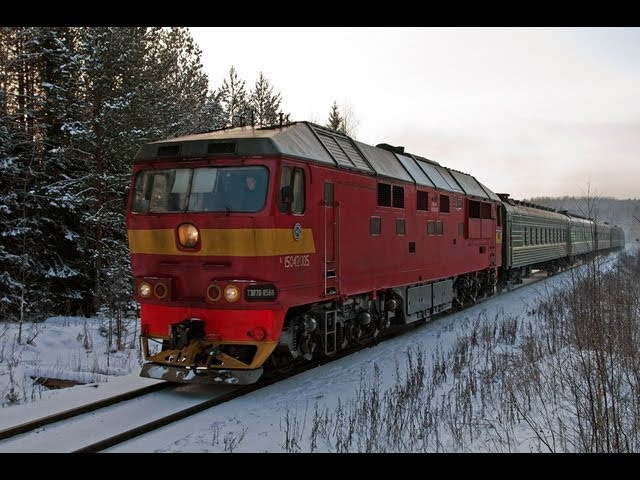 ТЭП70-0566 (Кекоран) / TEP70-0566 with passenger train (RZD, Kekoran)