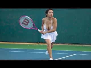 Miss you like crazy. Секси теннисистка с большой грудью. Сиськи, грудь, большой размер, big tits, не секс sex, не порноб porn