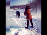 История о том,как мы ездили на лыжах ???