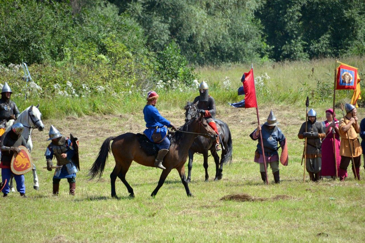 Русские войска перед князем