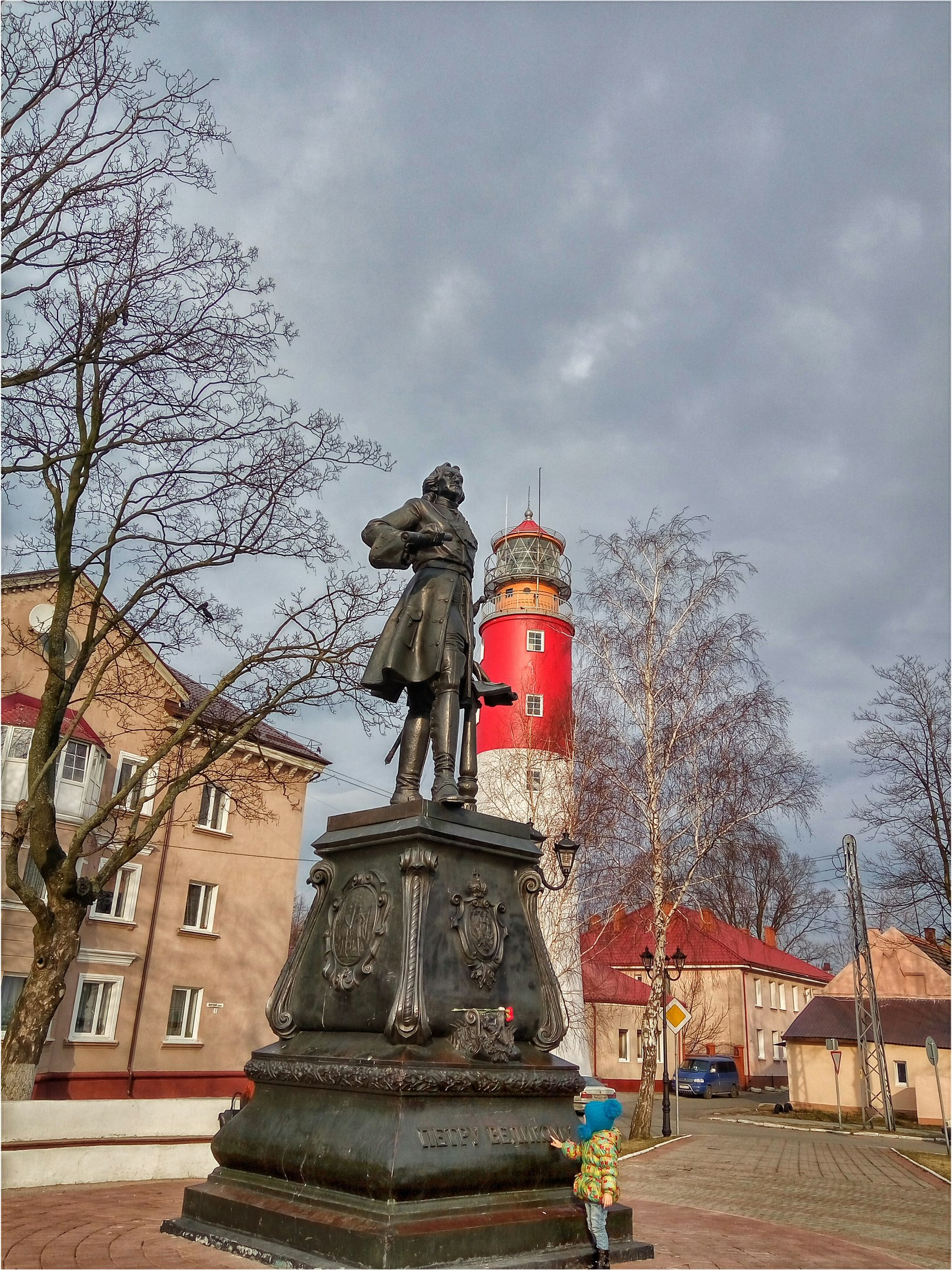 Маяк в городе Балтийске