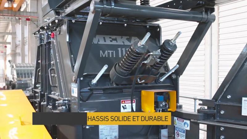 Видео с фабрики МЕКА: Третичная роторная дробилка МTI-1110
