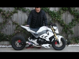 Honda Grom MSX125 MSX125sf Air Suspension Bagged Lay Frame Stretch DungStar DungStarGrom