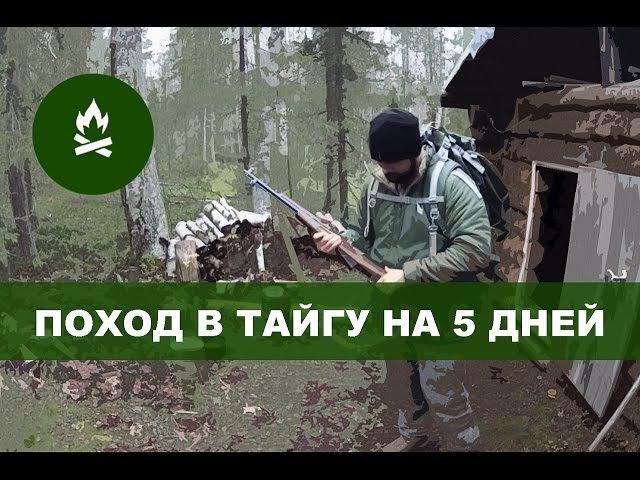 Поход в тайгу на 5 дней (таежный быт, осень, охота, снег) Adventure 5 days in Russian north Komi