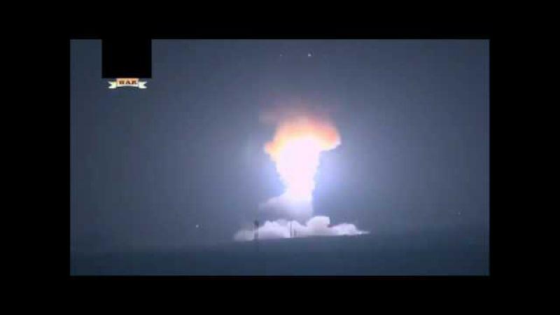 Пуск баллистической ракеты США в сторону Северной Кореи