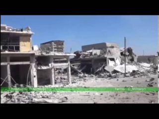 Ramouseh scenes from inside the area after the Syrian army regain control
