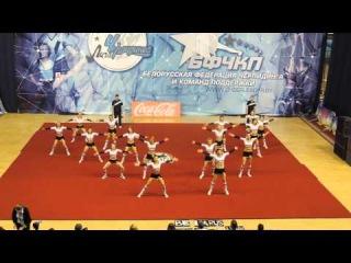 Adult cheer team all girl