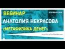 Метафизика денег, вебинар Анатолия Некрасова