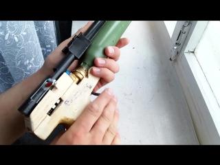 Как сделать мощный пневматический РсР пистолет своими руками. pneumatic gun PcP