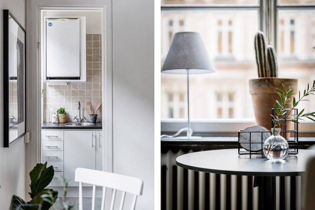 Скандинавский интерьер: квартира-студия 25 м.