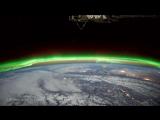 Вид ночью с космоса на планету Земля Vangelis Rachels Song