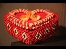 18 Pudełko w kształcie serca - Origami modułowe