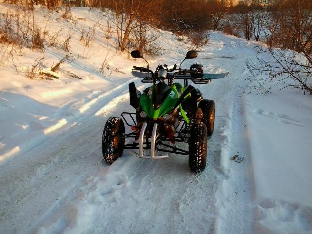 Квадроцикл шоссейный, электрический, Спринтер-04, зимой!