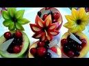 8 ЛАЙФХАКОВ КАК КРАСИВО НАРЕЗАТЬ ЯБЛОКИ КАК КРАСИВО ОФОРМИТЬ СТОЛ Украшения из фруктов