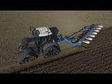Spring 2017  Fendt 724 Vario black on tracks ploughing  De Zeeuw