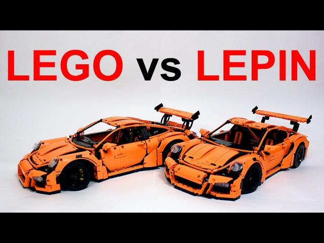 Lego Technic Porsche 42056 vs Китайское Лего Техник Lepin 20001 – Обзор Review
