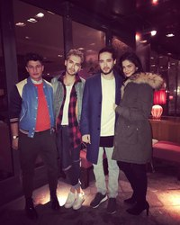 04.02.2017 - Berlin, Germany - Bill Kaulitz, Tom Kaulitz, Alex Frei & Shermine Shahrivar
