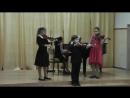 Ансамбль скрипачей младших классов. И.С.Бах. «Менуэт»