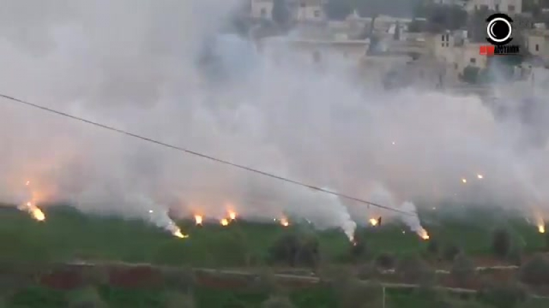 Idlib Russia|n warplanes bombing Idlib Province with incendiary munitions today.