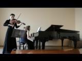 Ф. Шуберт, дуэт для скрипки и фортепиано, 1 часть. Вера Литовченко (скрипка) и Анастасия Давыдова (фортепиано)