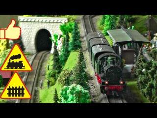 ОГРОМНЫЙ МАКЕТ ЖЕЛЕЗНОЙ ДОРОГИ Railway Big model and classic train - Video for children