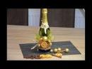 Новогодний декор бутылки шампанского Dekoration einer Sektflasche
