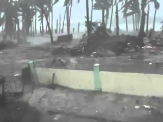 Actual Video of Storm Surge of Typhoon Haiyan Yolanda in Leyte Philippines