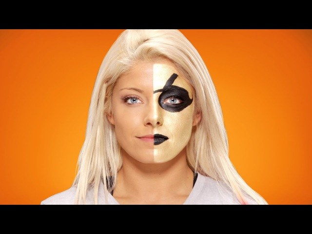 Alexa Bliss morphs into Goldust WWE Halloween Makeup Tutorial