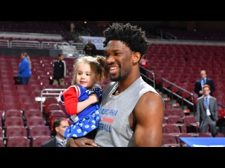 Joel Embiid Meets 3-year-old Superfan | Kings vs Sixers | January 30, 2017 | 2016-17 NBA Season