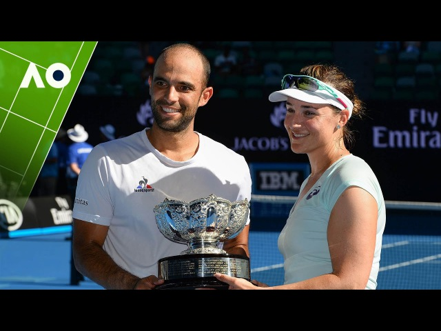 Spears/Cabal v Mirza/Dodig mixed doubles trophy presentation | Australian Open 2017