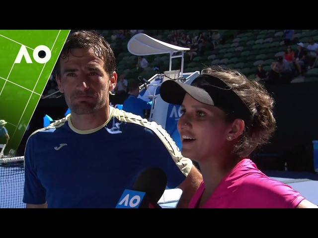 Sania Mirza/Ivan Dodig on court interview (SF) | Australian Open 2017