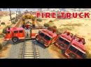 Fire truck for children. Машины мультик Мультики про машинки Машинки для детей Много пожар ...