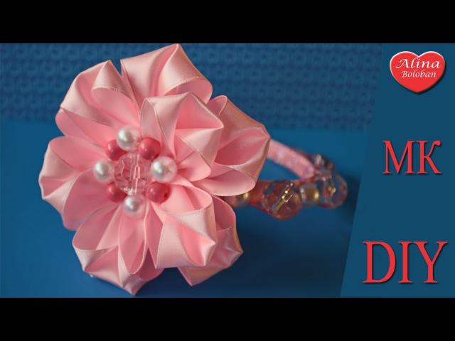 Праздничный Ободок и браслет Бусинка / Holiday Headband. DIY. hair bow