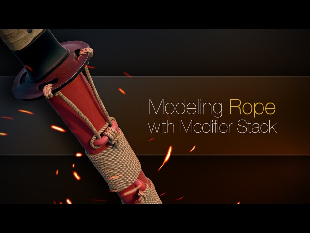 Modeling Rope with Modifier Stack (Blender)