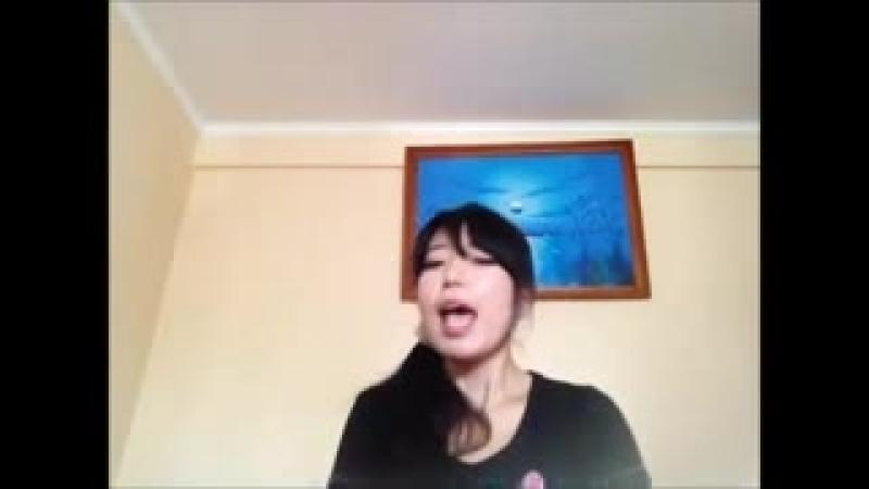 Отпусти и забудь японка пела 歌ってみた ありのままで ロシア語Ver low