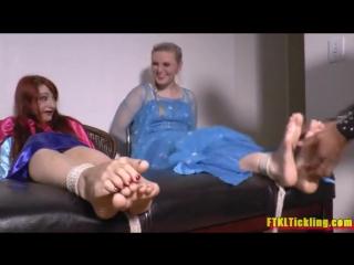 Elsa and Anna Frozen Tickling Torture