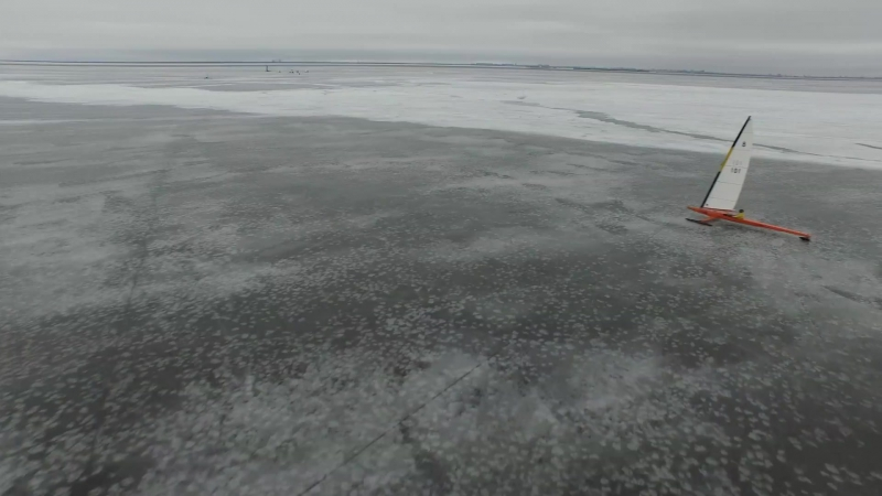 Ледяные гонки на буерах Яхтинг Санкт Петербург S 8 open class ice yacht boeier y c Strelna Saint Petersburg Russia