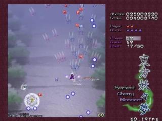 Touhou 7 - сложность лунатик, первый уровень