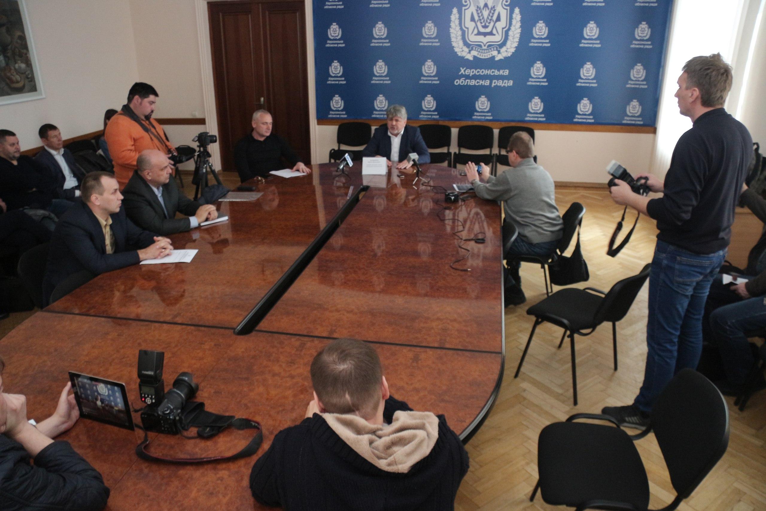 Василий Зеленчук провел пресс-конференцию по поводу протеста рыбаков