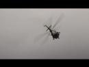Фигуры пилотажа вертолета МИ-8 на праздновании Дня Единства в Самаре